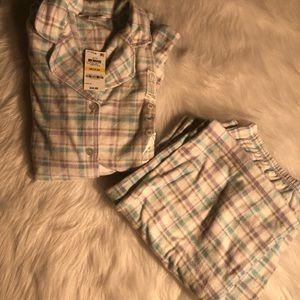 Charter club soft long sleeve button up pajama set